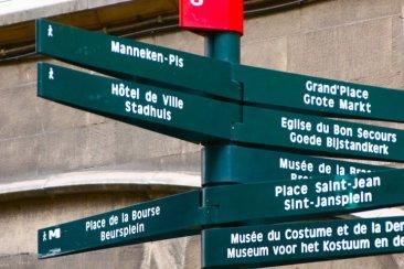 Street sign in Brussels, Belgium (@kmtwanderlust photo/May 6, 2011)